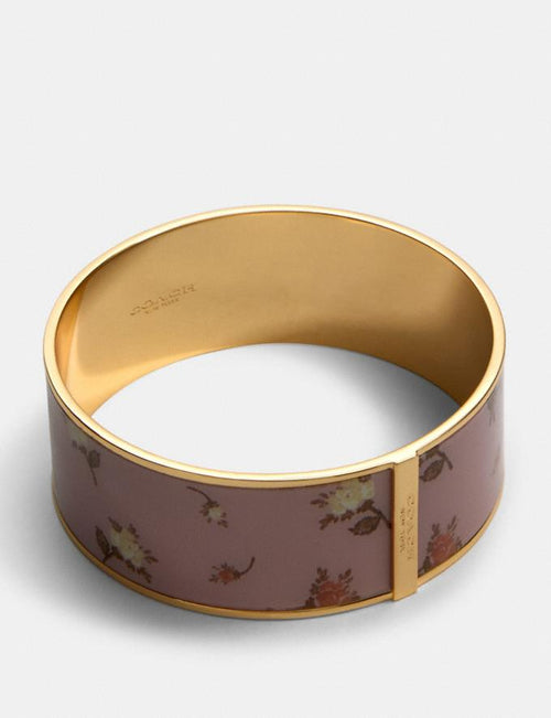 Coach Rose Bouquet Print Bangle Style # 91411 Gd/Blossom