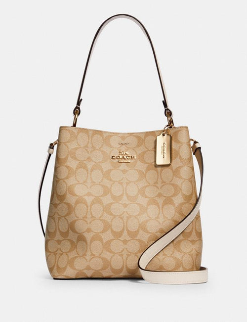 Town Bucket Bag in Signature Canvas COACH Style # 91512 Im/Light Khaki Chalk