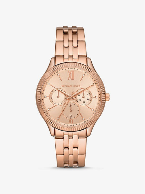 Oversized Benning Rose Gold-Tone Watch Style # MK4429
