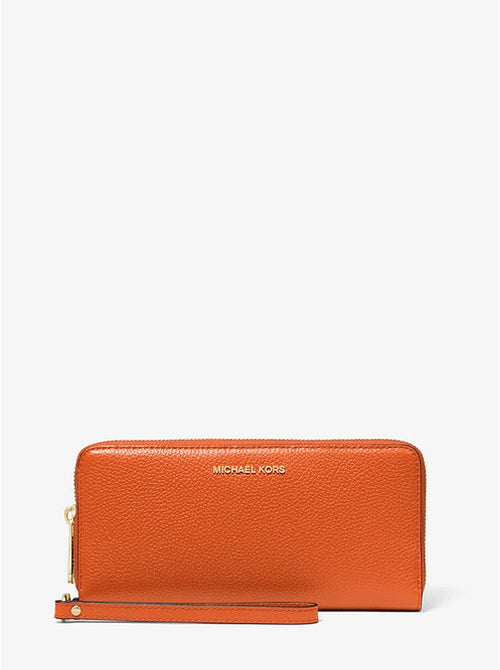 Leather Continental Wristlet Style # 32F6GM9E9L Lt Terractta