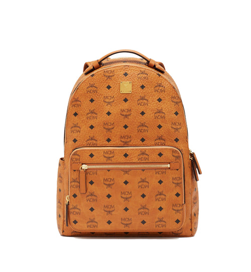MCM Stark Backpack in Visetos Cognac Style #: MMKASVE10CO001