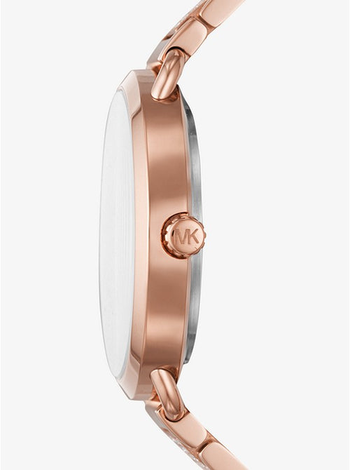 MICHAEL KORS Portia Pave Rose Gold-Tone Watch Style # MK3853 ROSE GOLD