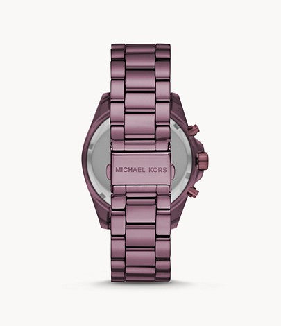 Michael Kors Women's Bradshaw Chronograph Purple Stainless Steel Watch Style # MK6721