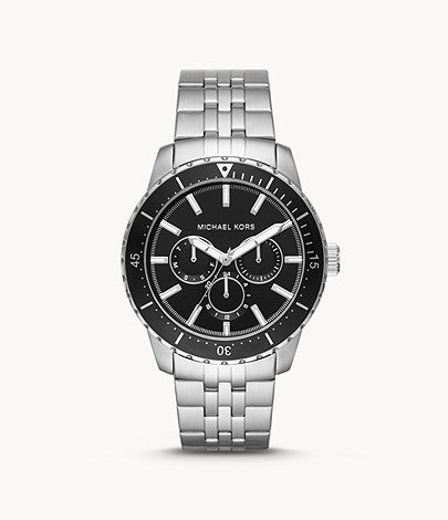 Michael Kors Cunningham Multifunction Stainless Steel Watch Style # MK7156 Silver