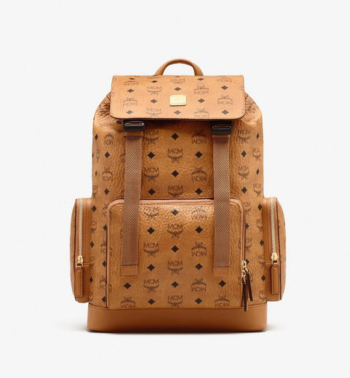 Medium Brandenburg Backpack in Visetos Cognac MCM Style # MMKASBG04CO001 Cognac | Cognac