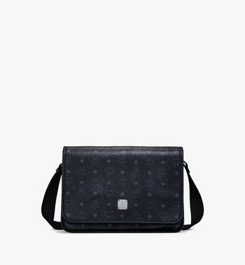 Medium Klassik Messenger Bag in Visetos Black MCM Style # MMMAAKC02BK001 	 Black | Black VISETOS