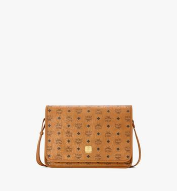 Medium Klassik Messenger Bag in Visetos Cognac MCM Style # MMMAAKC02CO001 Cognac | Cognac VISETOS