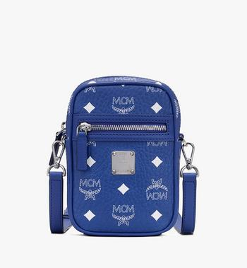 Mini Crossbody in Visetos Original MCM Style # MMRASVI01H1001 Blue|Surf the Web