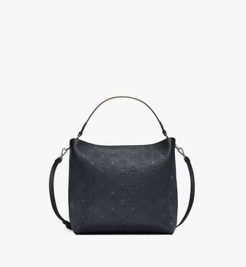 Large Klara Hobo in Monogram Leather Black MCM Style # MWH9SKM75BK001 Black | Black