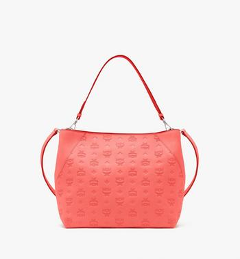 Klara Hobo in Monogram Leather MCM Style # MWH9SKM76O3001 Red|Hot Coral