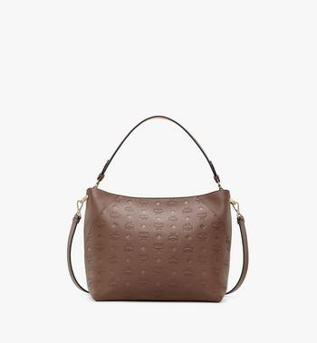 Medium Klara Hobo in Monogram Leather Chestnut MCM Style # MWHAAKM03N5001 Brown | Chestnut