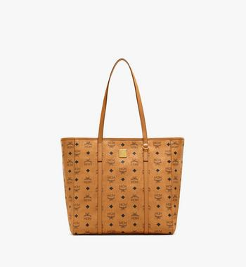 Medium Toni Shopper in Visetos MCM Style # MWPAATN03CO001 Cognac | Cognac