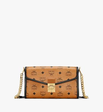 Millie Crossbody in Visetos Leather Block MCM Style # MWRAAME09CO001 Cognac | Cognac