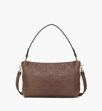 Medium Klara Shoulder Bag in Monogram Leather Chestnut MCM Style # MWSAAKM02N5001 Brown | Chestnut MONOGRAM LEATHER