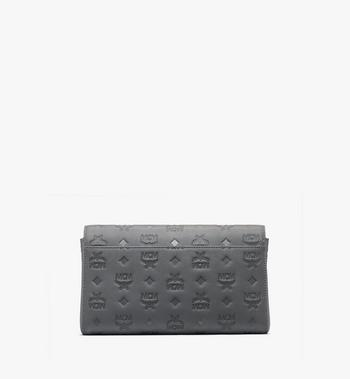 Millie Crossbody in Monogram Leather MCM Style #  MYZ9AME12EC001 Grey | Charcoal