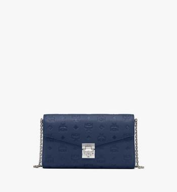 Millie Crossbody in Monogram Leather MCM Style # MYZ9AME12VA001 Blue|Navy Blue