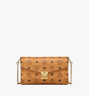 Medium Millie Flap Crossbody in Visetos Cognac MCM Style # MYZ9SME05CO001 Cognac | Cognac