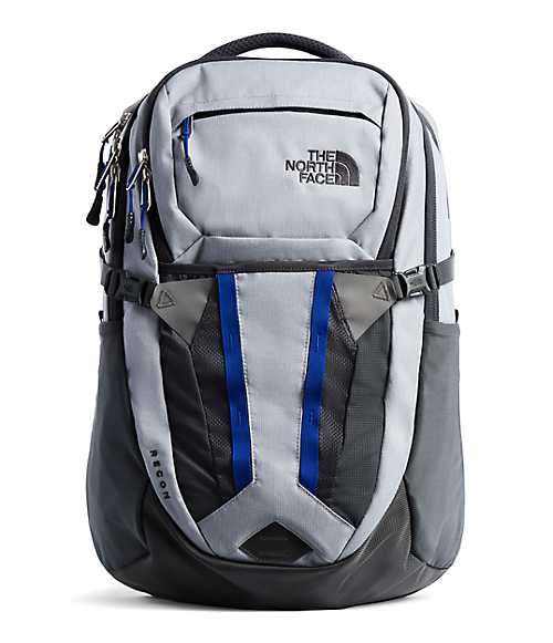 Recon Backpack | The North Face Style #  NF0A3KV1-C1 TNF MEDIUM GREY HEATHER/MARKER BLUE