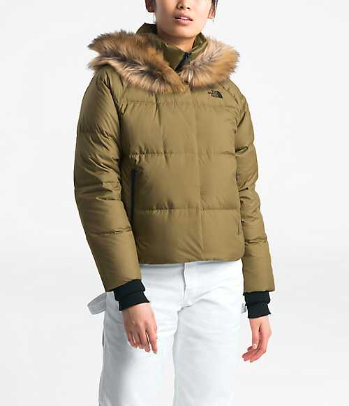 Women's Dealio Down Crop Jacket | The North Face Style #  NF0A3XAJ-O1 BRITISH KHAKI