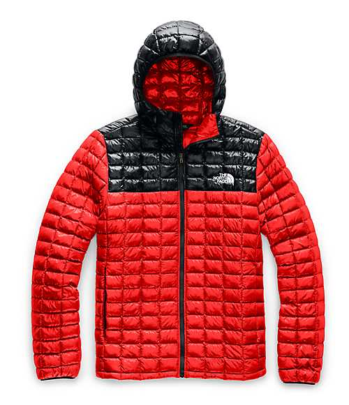 Men's ThermoBall™ Eco Hoodie | The North Face Style # NF0A3Y3M-O1 FIERY RED / TNF BLACK