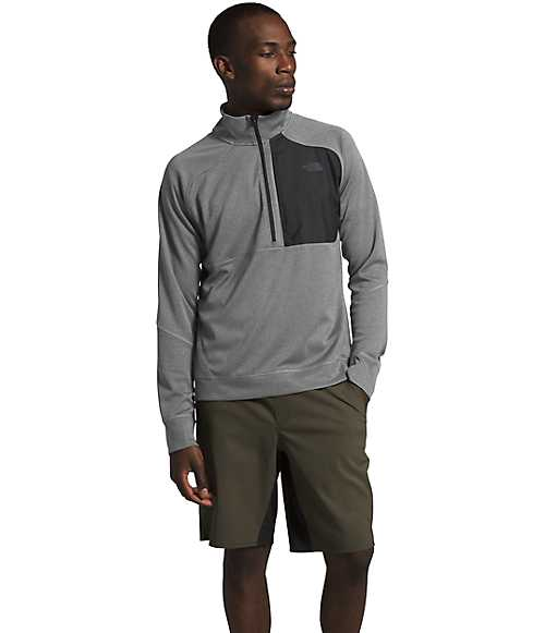 Men's Essential ¼ Zip Mid-Layer | The North Face Style # NF0A4CLK-O1 TNF MEDIUM GREY HEATHER