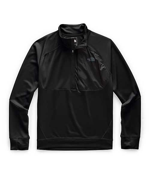 Men's Essential ¼ Zip Mid-Layer | The North Face Style # NF0A4CLK-O1 TNF BLACK
