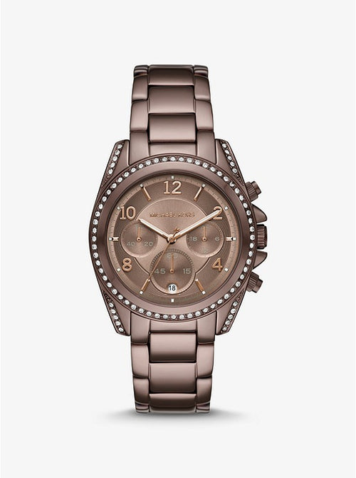 MICHAEL KORS Oversized Blair Pavé Sable-Tone Watch MK6764