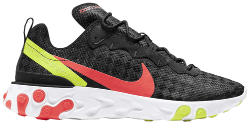 NIKE / REACT ELEMENT 55 / REACT ELEMENT 55 'CHECKERED CRIMSON VOLT' Style # CJ0782 001