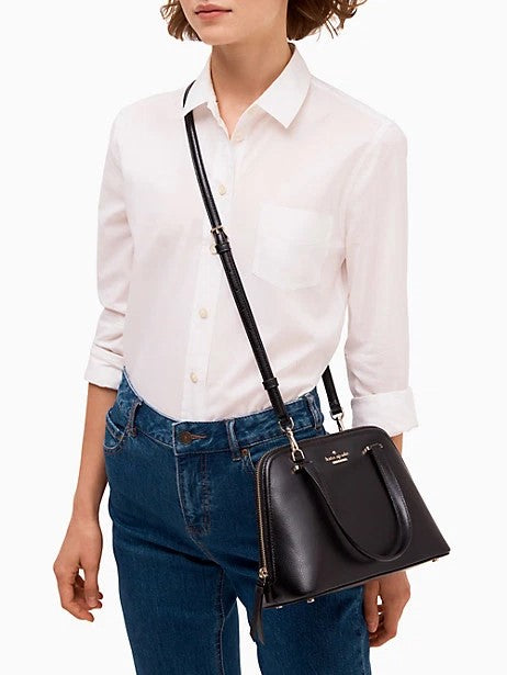 Kate Spade patterson drive small dome satchel Style #  wkru6058 Black