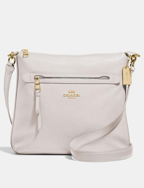 Coach Mae File Crossbody Style No. F34823 Chalk/Lt Gold