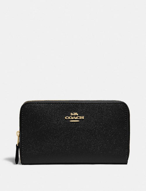 COACH: Medium Zip Around Wallet Style No. F87735 Black