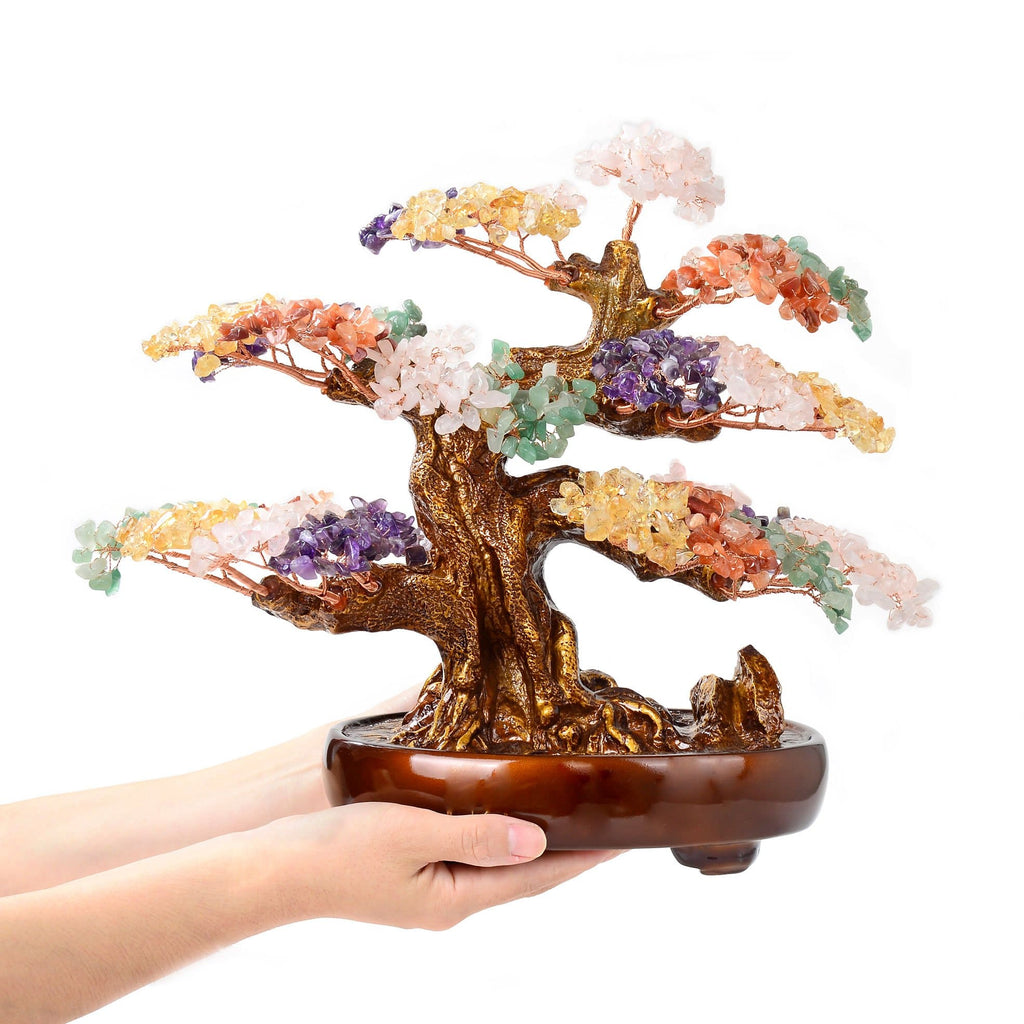 how to use crystals gemstone tree