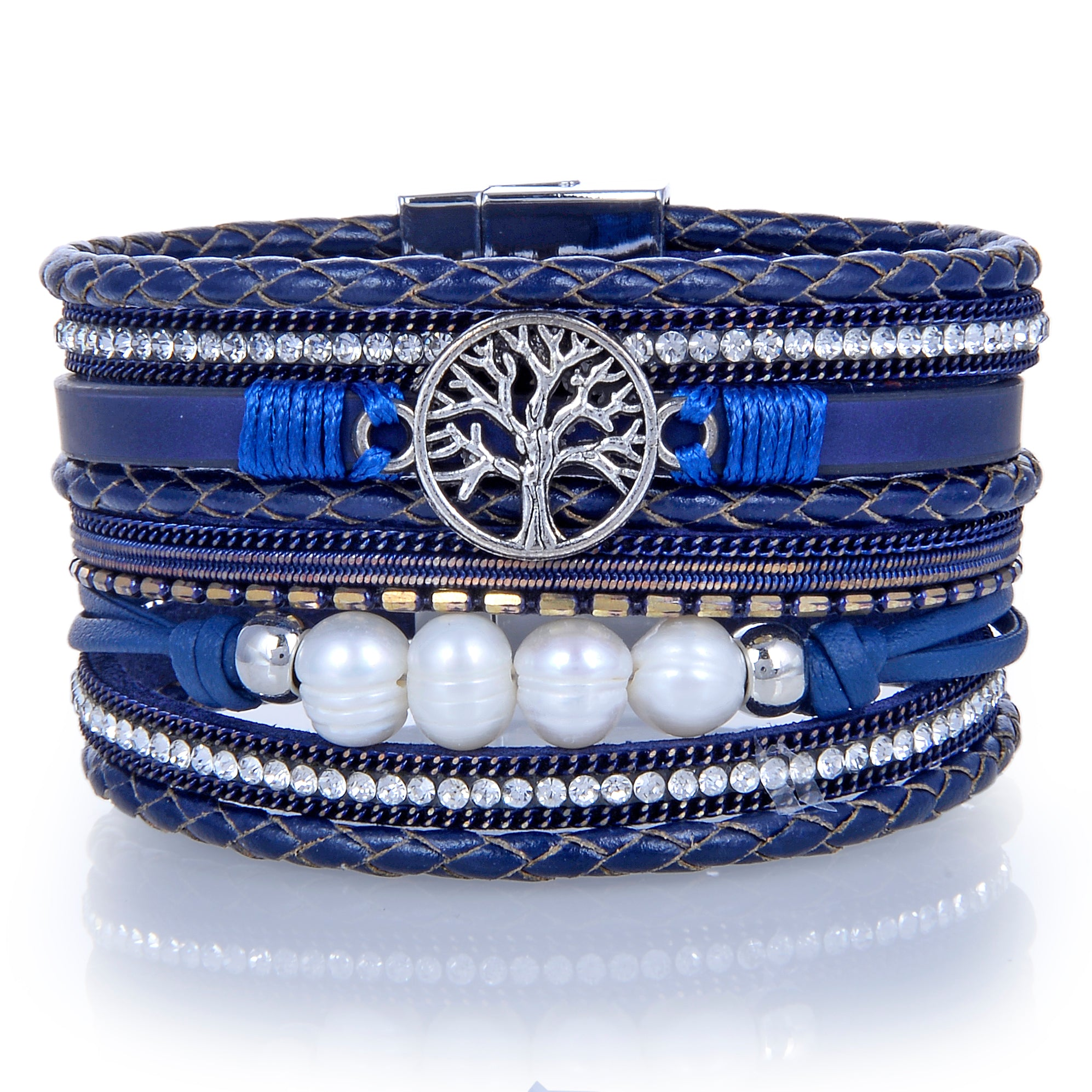 small and unusual gifts for the holidays multiple leather pearl wrap bracelet