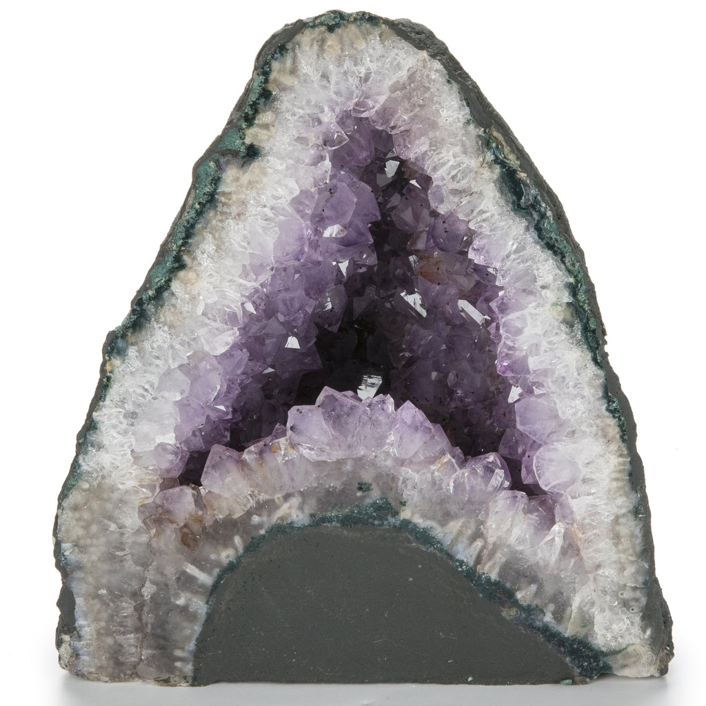 Natural Brazilian Amethyst Geode Cathedral - 9 in / 18 lbs