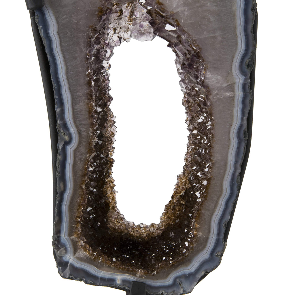 Kalifano Amethyst Natural Brazilian Amethyst & Citrine Geode on Stand - 25 in / 26 lbs BAG4700.001