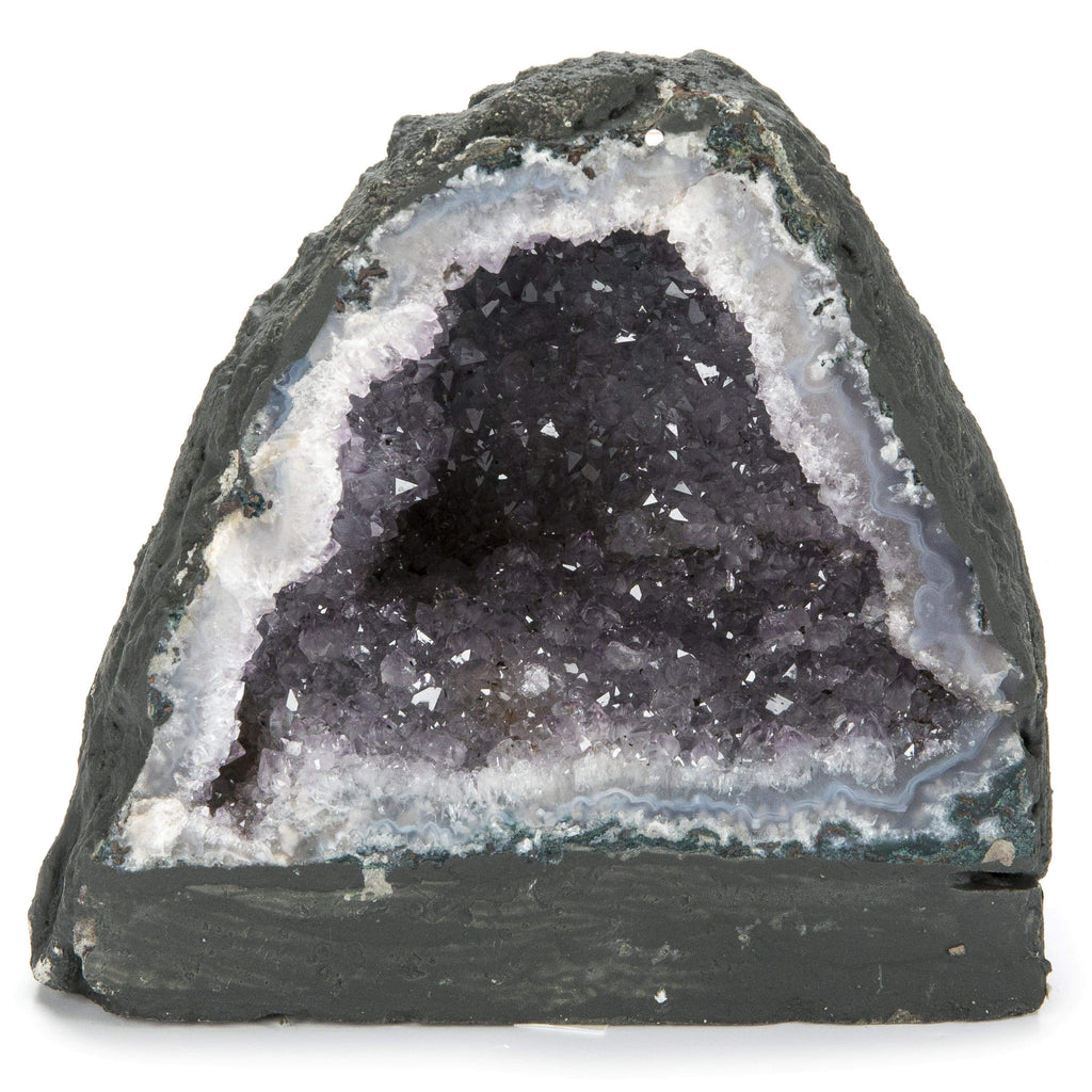 Kalifano Amethyst Natural Brazilian Amethyst Geode Cathedral - 5.5 in / 4 lbs BAG300.002
