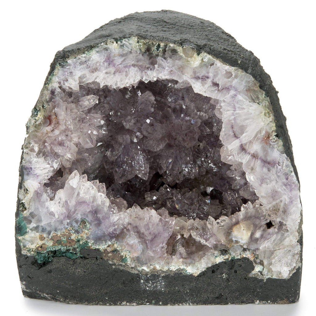 Kalifano Amethyst Natural Brazilian Amethyst Geode Cathedral - 7.5 in / 14 lbs BAG1000.002