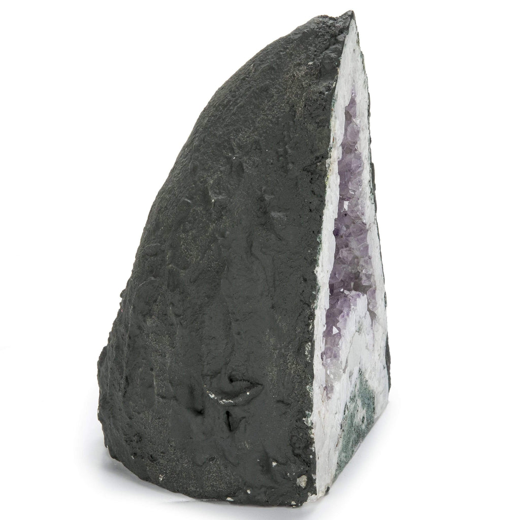 Kalifano Amethyst Natural Brazilian Amethyst Geode Cathedral - 8 in / 8 lbs BAG600.003