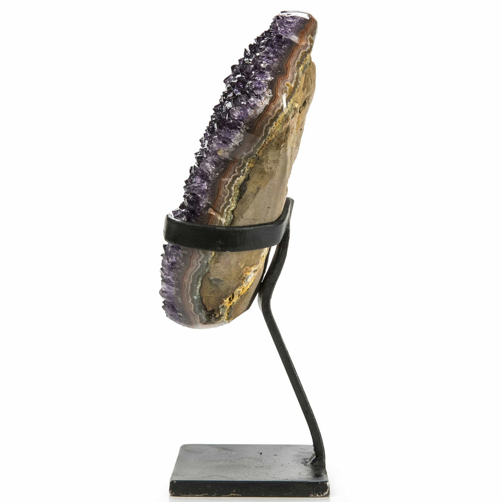 Kalifano Amethyst Natural Uruguayan Amethyst Geode on Custom Stand - 10 in / 2.1 kg UAG900.010