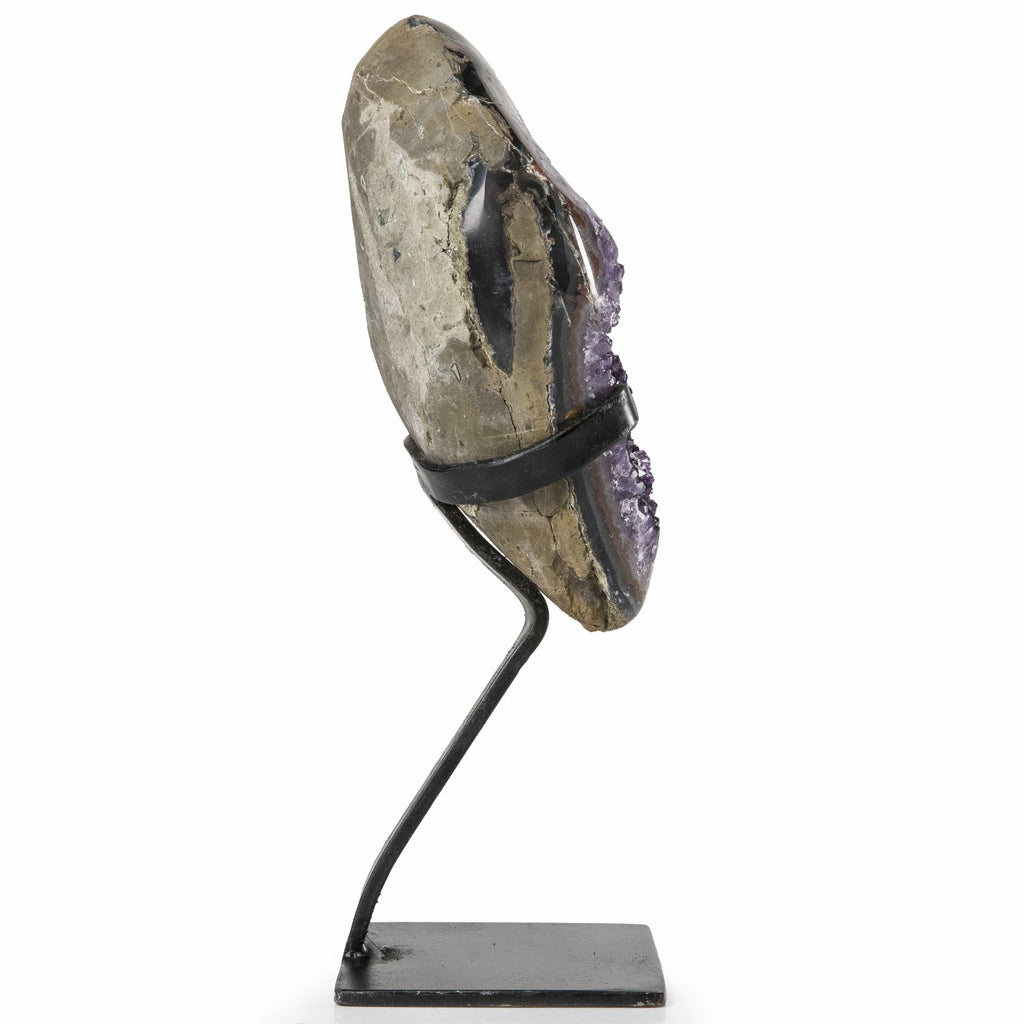 Kalifano Amethyst Natural Uruguayan Amethyst Geode on Custom Stand - 11 in / 2.15 kg UAG900.006