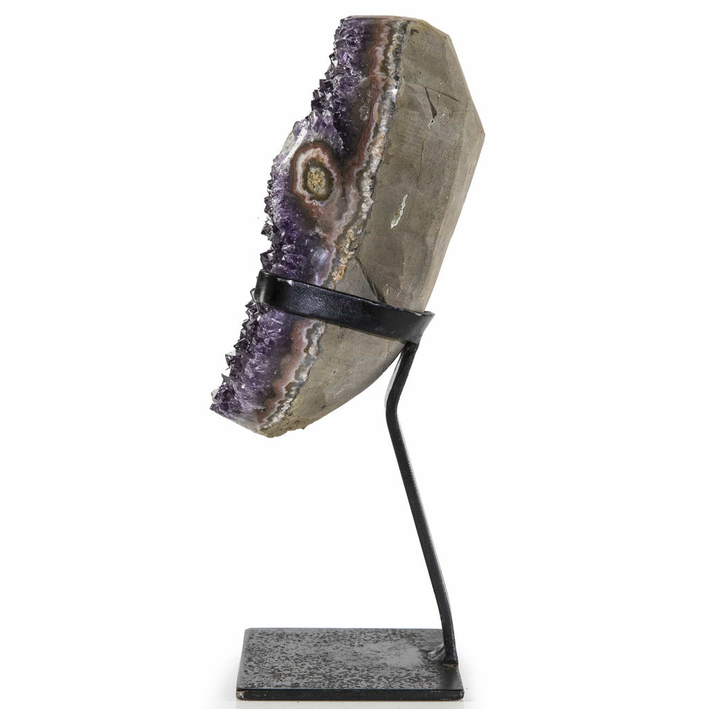 Kalifano Amethyst Natural Uruguayan Amethyst Geode on Custom Stand - 11 in / 2.32 kg UAG1000.015