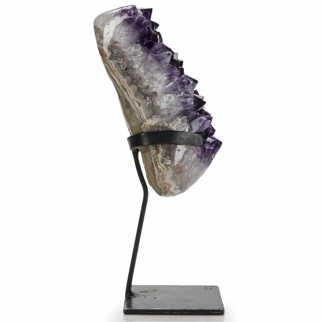 Kalifano Amethyst Natural Uruguayan Amethyst Geode on Custom Stand - 12 in / 2.25 kg UAG900.007