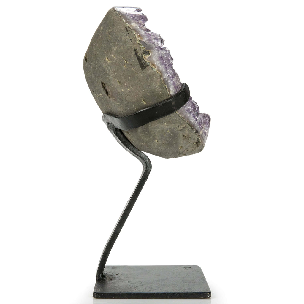 Kalifano Amethyst Natural Uruguayan Amethyst Geode on Custom Stand - 9 in / 1.84 kg UAG800.006