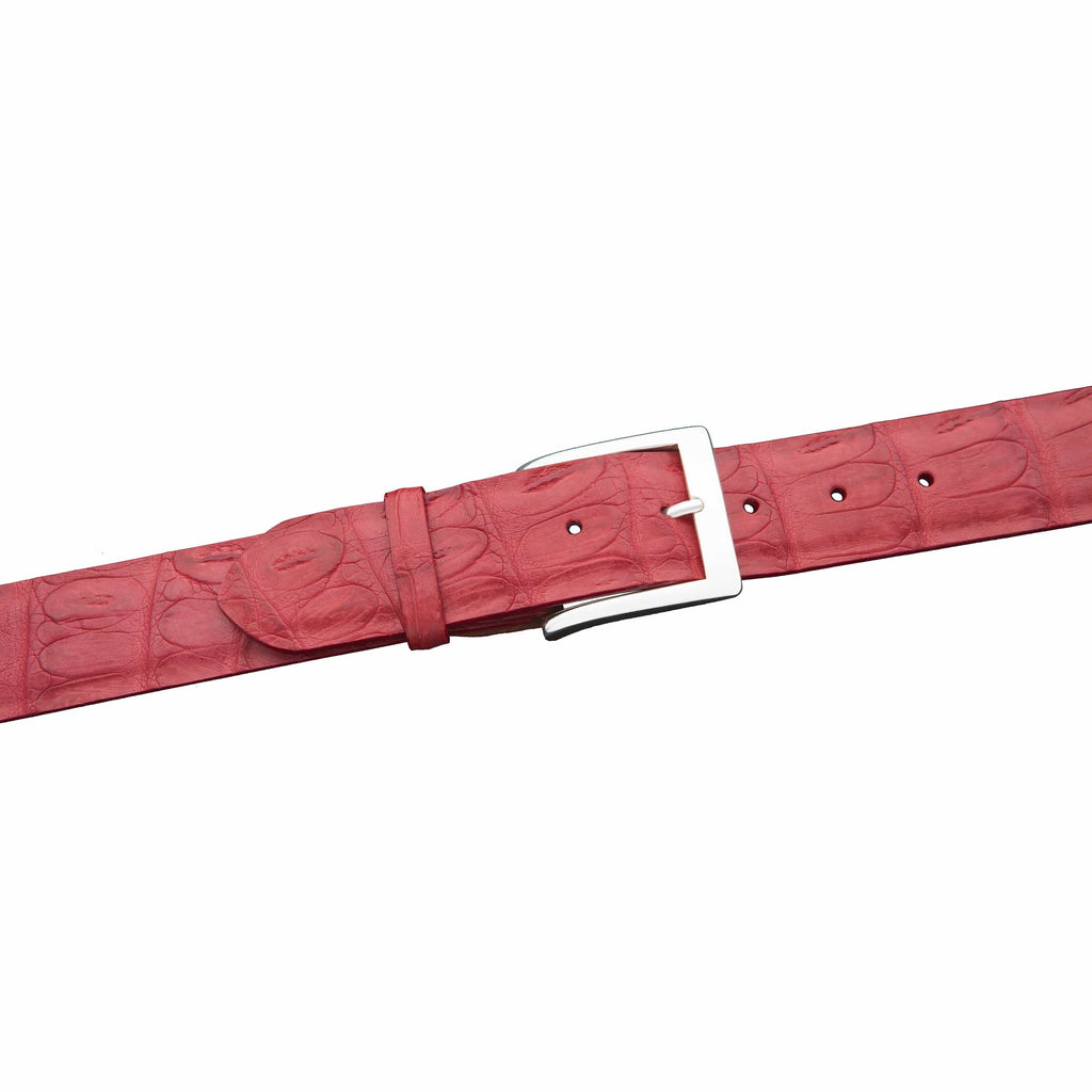 Kalifano Belts KC40-RED - KALIFANO Matte Crocodile 40 mm Belt, Red KC40-RED