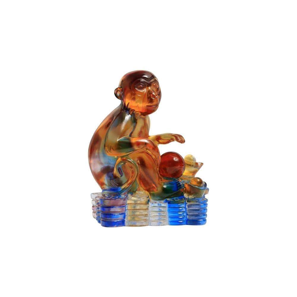 Kalifano Crystal Carving CRYSTAL.012 - Monkey of Courage Crystal Carving  Art (CRYSTAL.089) CRYSTAL.012