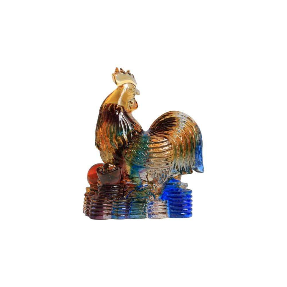 Kalifano Crystal Carving CRYSTAL.013 - Rooster and his morning elegance Crystal Carving Art (CRYSTAL.087) CRYSTAL.013