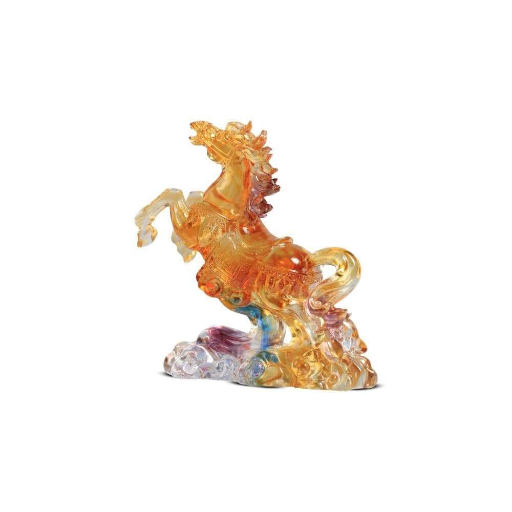Kalifano Crystal Carving CRYSTAL.042 - Wild Stallion Crystal Carving Art CRYSTAL.042