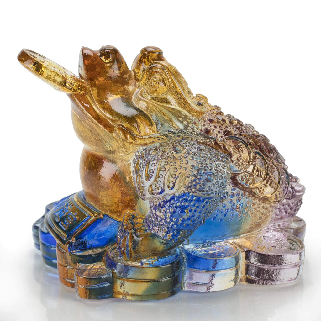 Kalifano Crystal Carving CRYSTAL.127 - Lucky Toad  Crystal Carving  Art *One Of A Kind* CRYSTAL.127