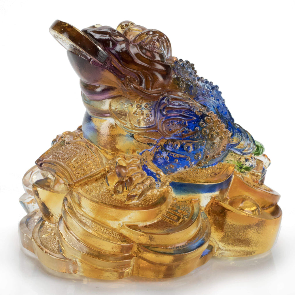 Kalifano Crystal Carving Lucky Toad Large Crystal Carving Art CRYSTAL.145