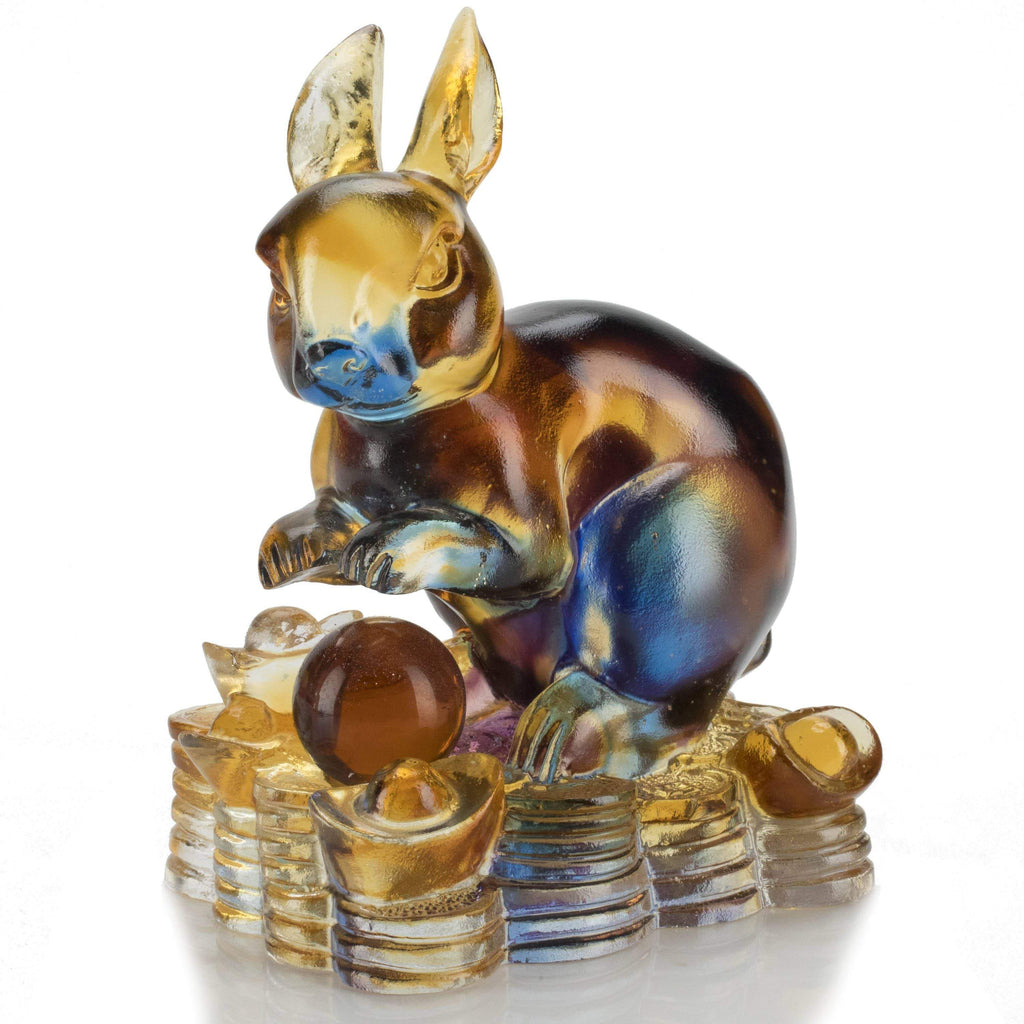 Kalifano Crystal Carving Rabbit Crystal Carving Art CRYSTAL.086